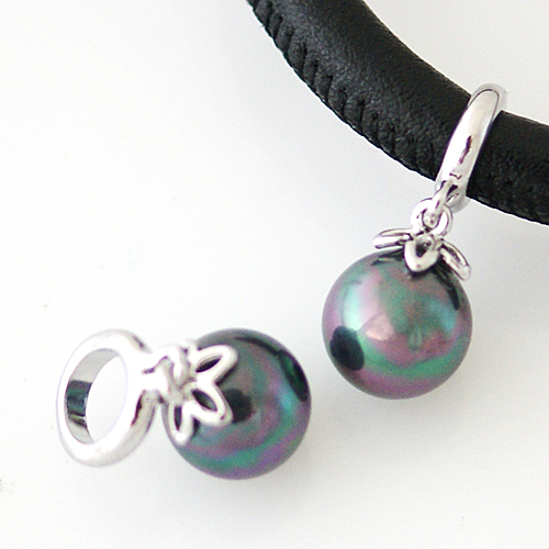 End Less Pearl Charms Drop - Abalone Silver