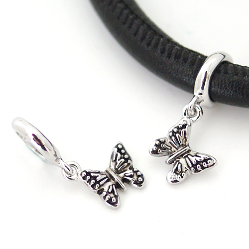 End less Metal Charms - Silver Butterfly