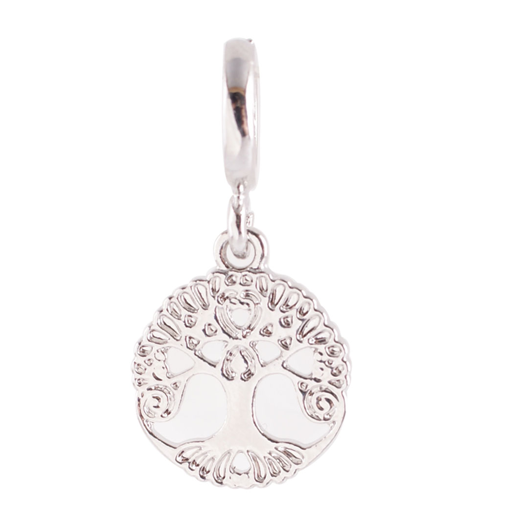 End Less Metal Charms Drop - Silver Tree Of Life
