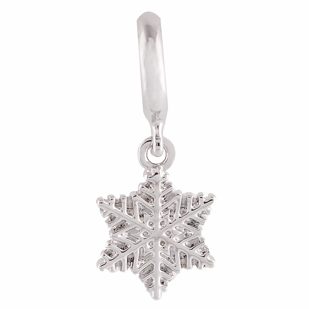 End Less Rhinestone Charms Drop - Silver Snowflake
