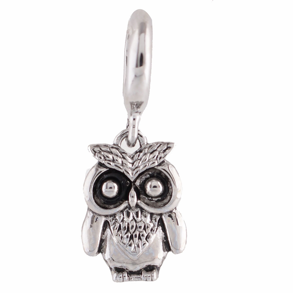 End Less Rhinestone Charms Drop - Owl