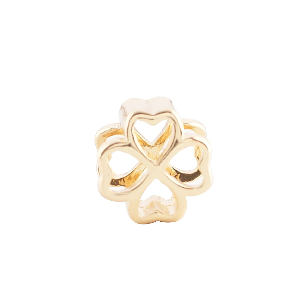 End Less Metal Charms - Gold Four Leaf Clover