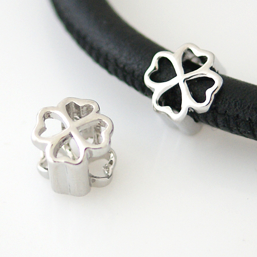 End Less Metal Charms - Silver Four Leaf Clover