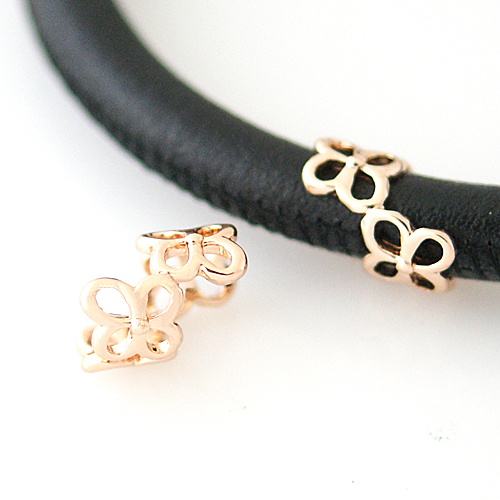End Less Metal Charms - Rose Gold Flower