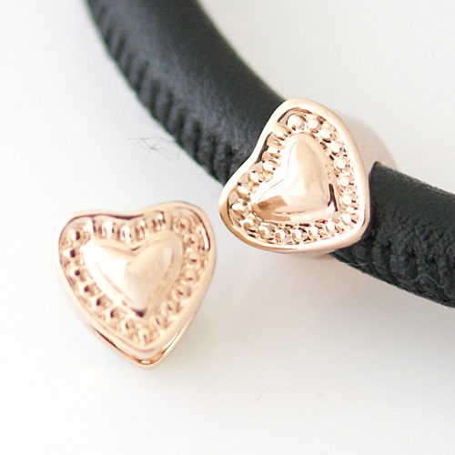 End Less Metal Charms - Rose Gold Heart
