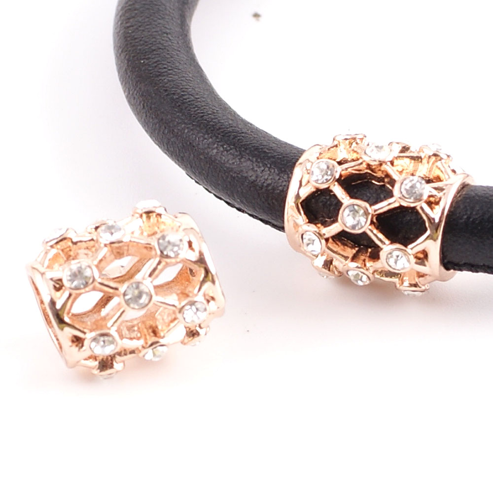 End Less Metal Charms - Rose Gold CZ Barrel