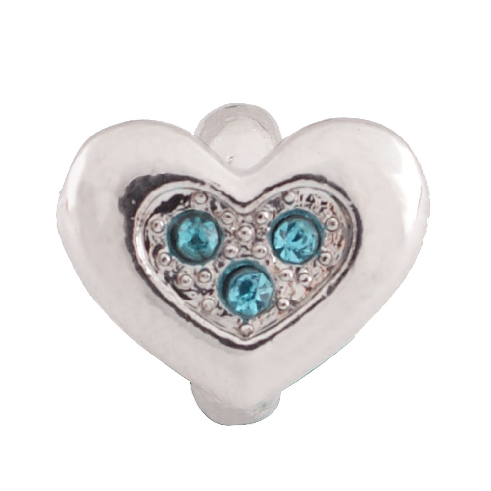 End Less Metal Charms - Silver Heart Blue