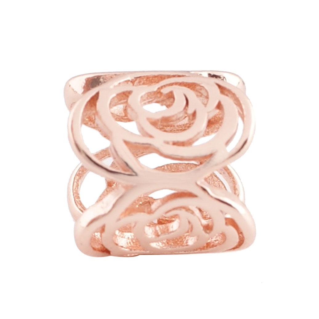 End Less Metal Charms - Rose Gold Barrel Flower