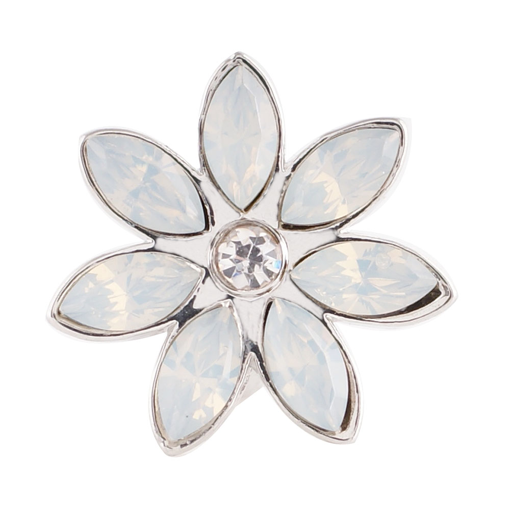 End Less Rhinestone Charms - Silver Flower AB Clear