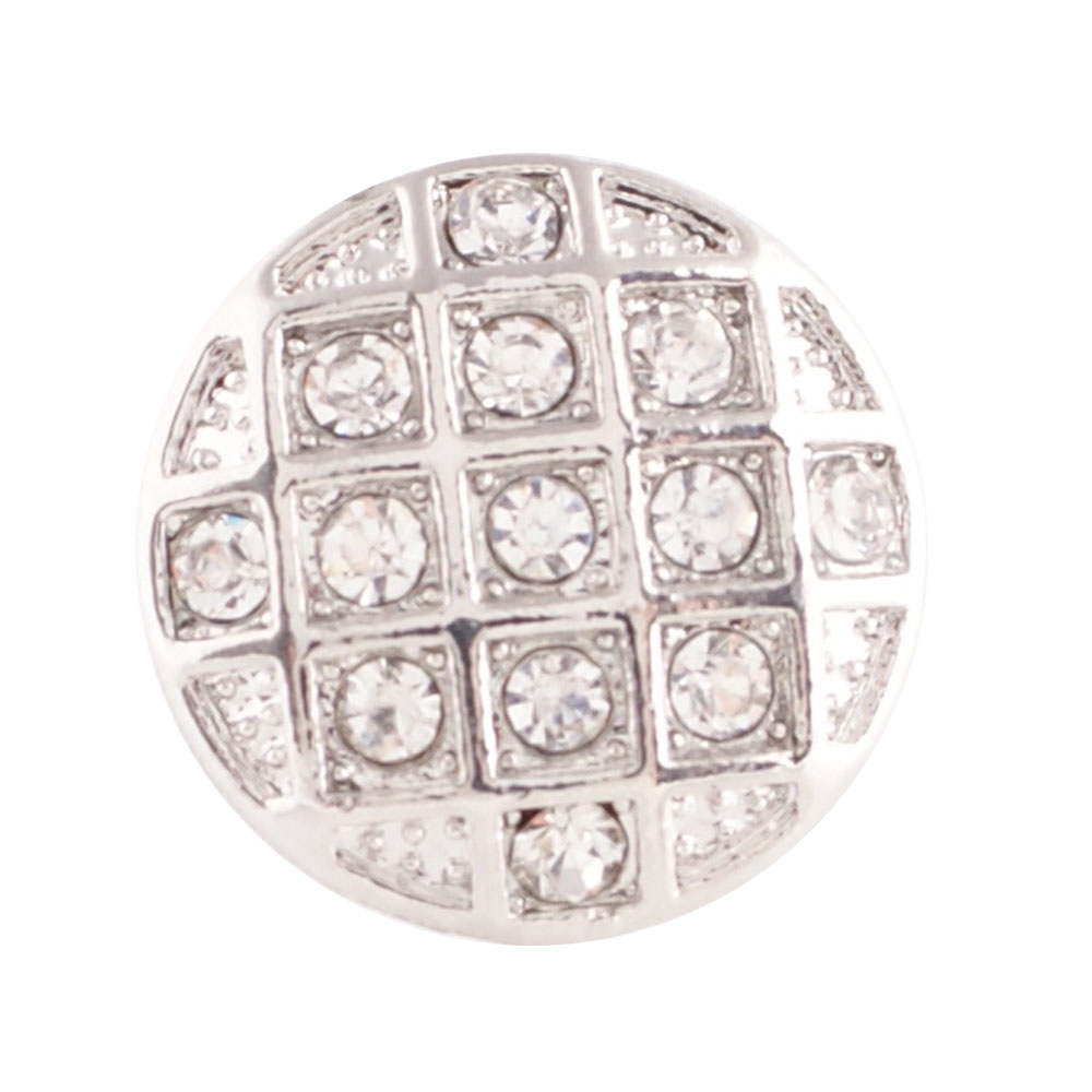 End Less Rhinestone Charms - Silver Round Clear