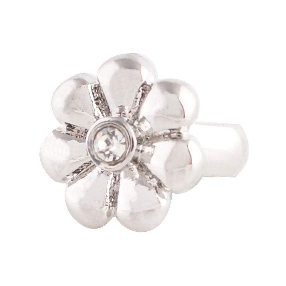 End Less Rhinestone Charms - CZ Clear Flower