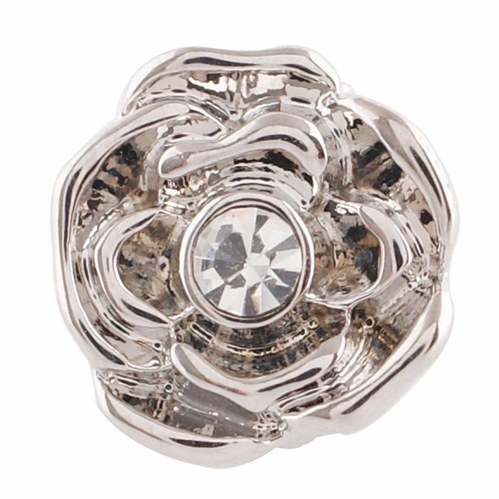 End Less Rhinestone Charms - Silver Rose Clear