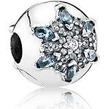 925 - Clip Stopper Charm - Snowflake Ice Blue