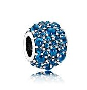 Charm 925 - Silver Shimmering Droplets Blue