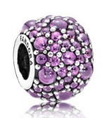 Charm 925 - Silver Shimmering Droplets Purple