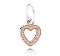Charm 925 - Rose Gold Dangle Symbol of Love