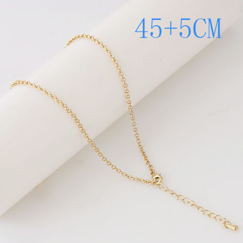 "Snap Jewelry Fashion Gold Oval Link Chain - 18"" + Extender"