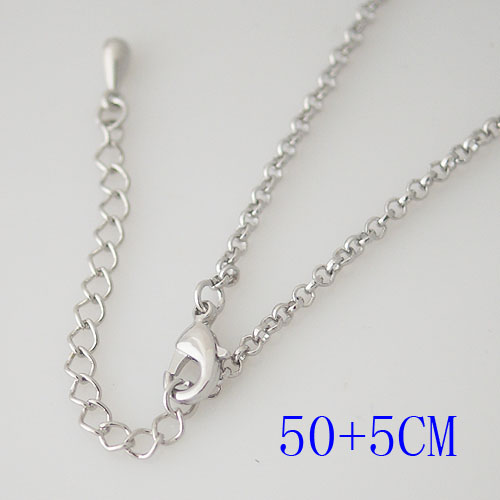 "Snap Jewelry Fashion Silver Oval Link Chain - 20"" + Extender"