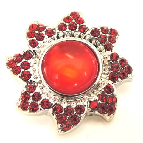 Snap Jewelry Rhinestone - Red