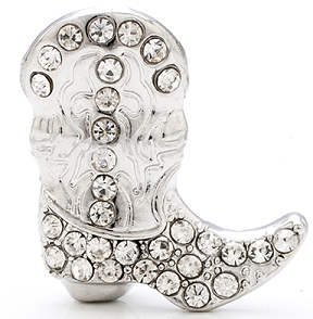 Snap Jewelry Rhinestone - Cowboy Boot