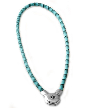 Snap Jewelry Magnetic Necklace - Light Blue
