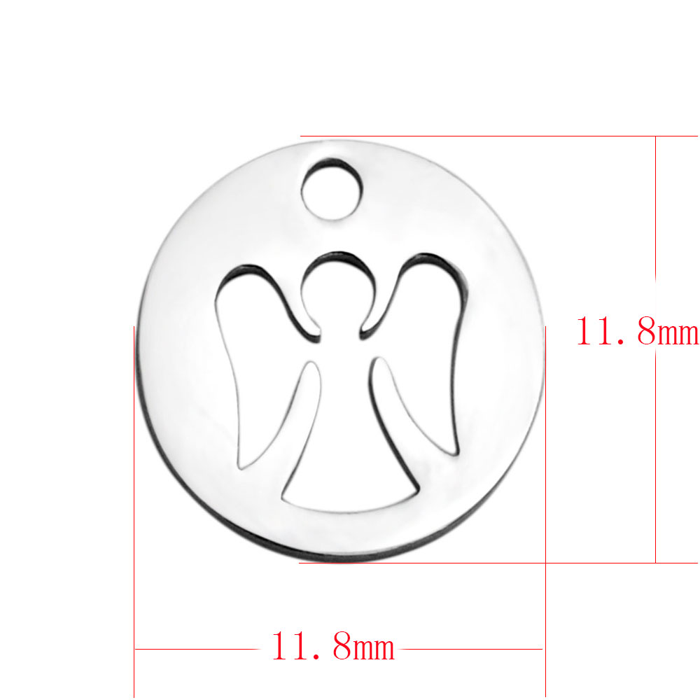 11.8*11.8mm Small Stainless Steel Charm - Angel