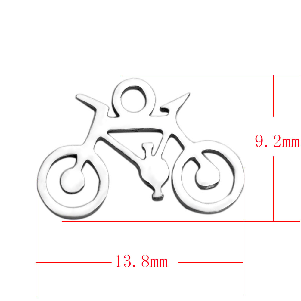 13.8*9.2mm Small Stainless Steel Charm - Bicycle