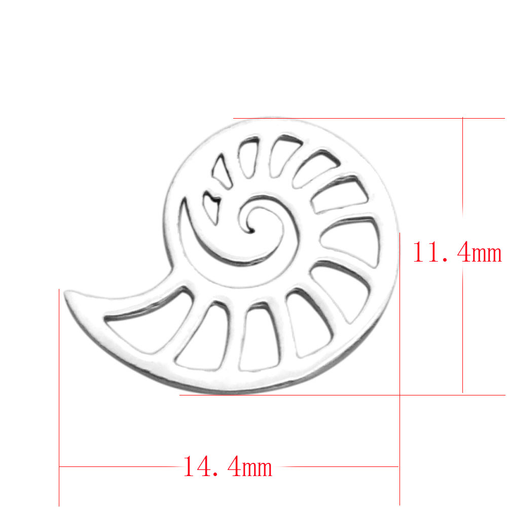 14.4*11.4mm Small Stainless Steel Charm - Shell