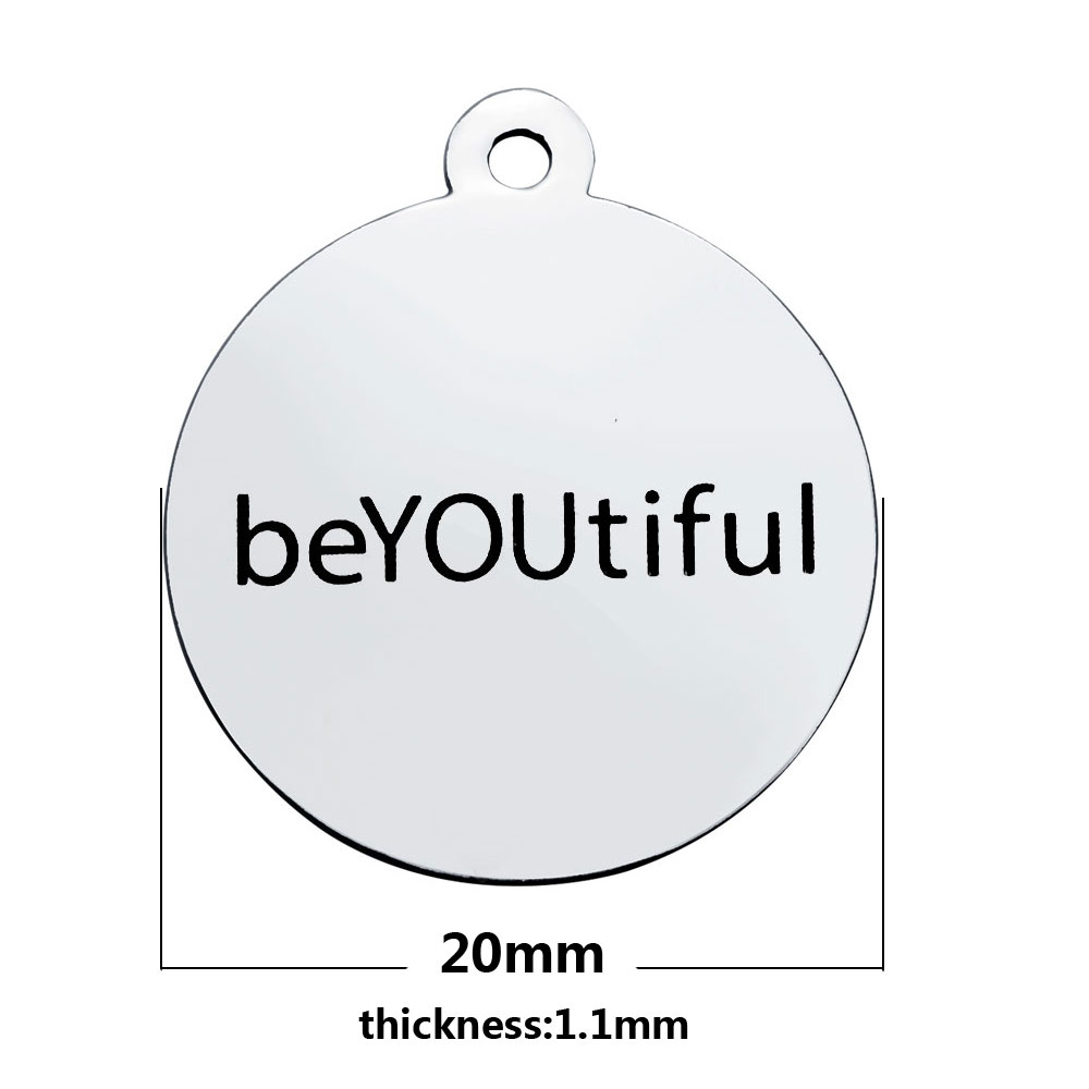 20*23.2mm Medium Stainless Steel Charm - beYOUtiful