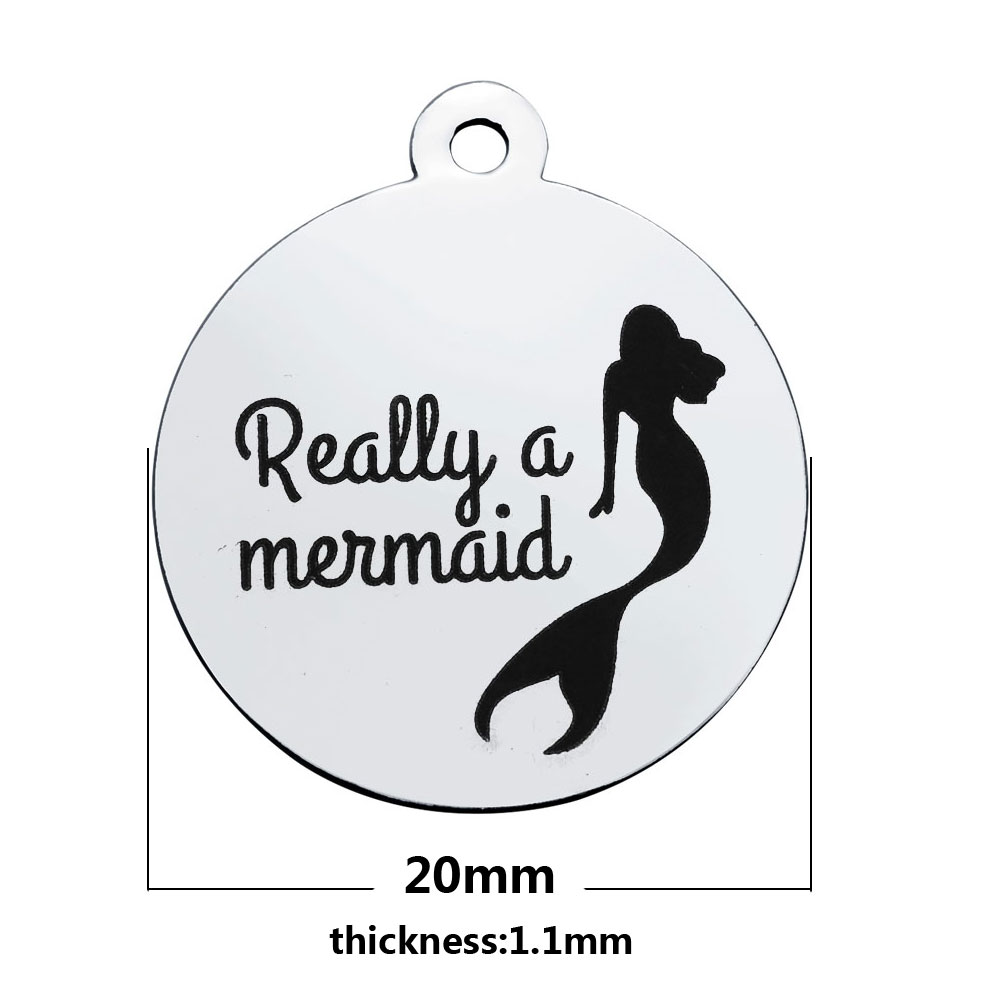20*23.2mm Medium Stainless Steel Charm - Really a mermaid