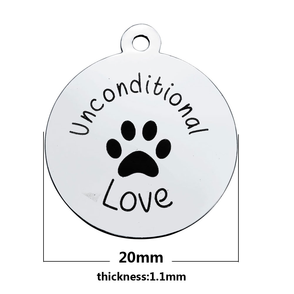 20*23.2mm Medium Stainless Steel Charm - Unconditional Love