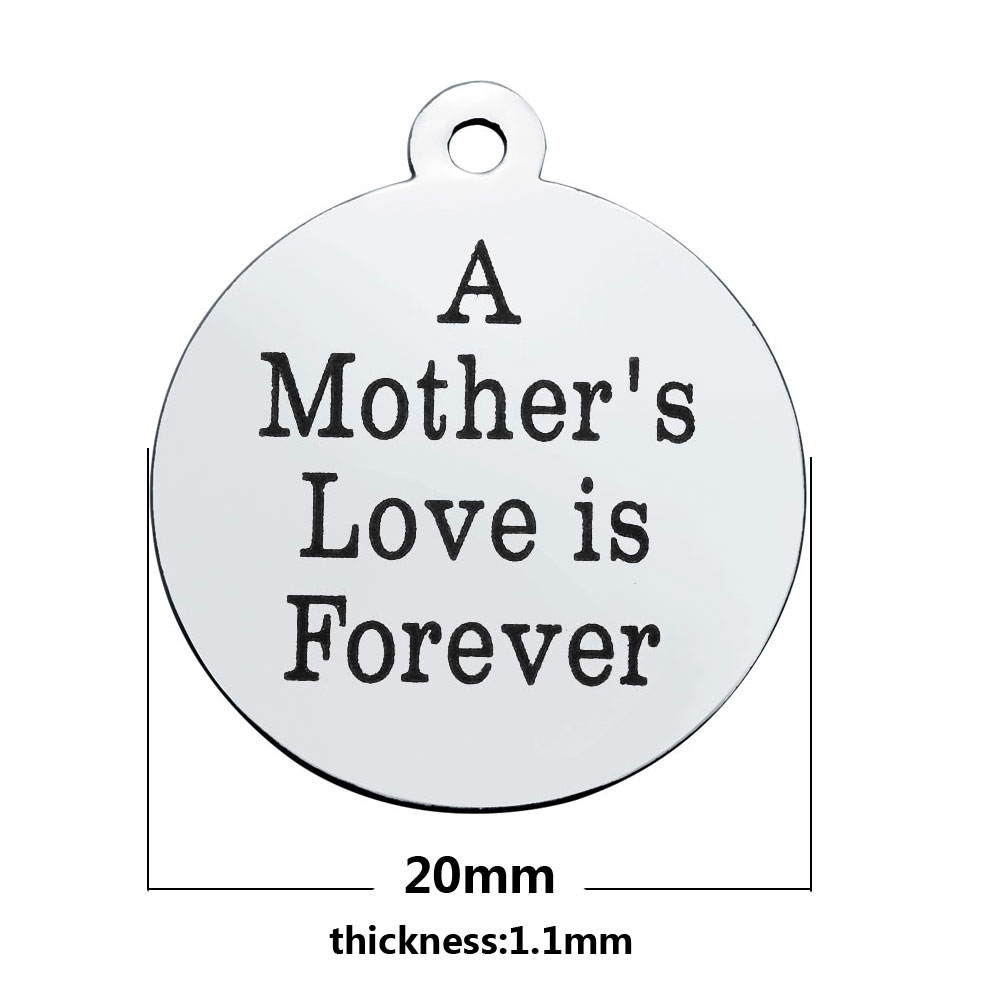 20*23.2mm Medium Stainless Steel Charm - A Mother's Love