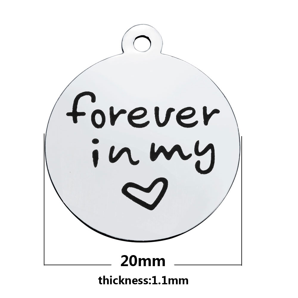 20*23.2mm Medium Stainless Steel Charm - Forever in My Heart