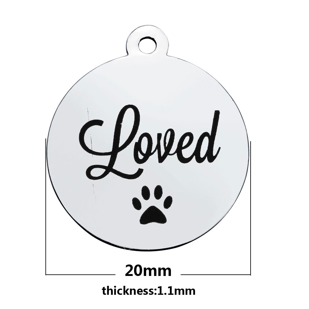 20*23.2mm Medium Stainless Steel Charm - Loved Paws