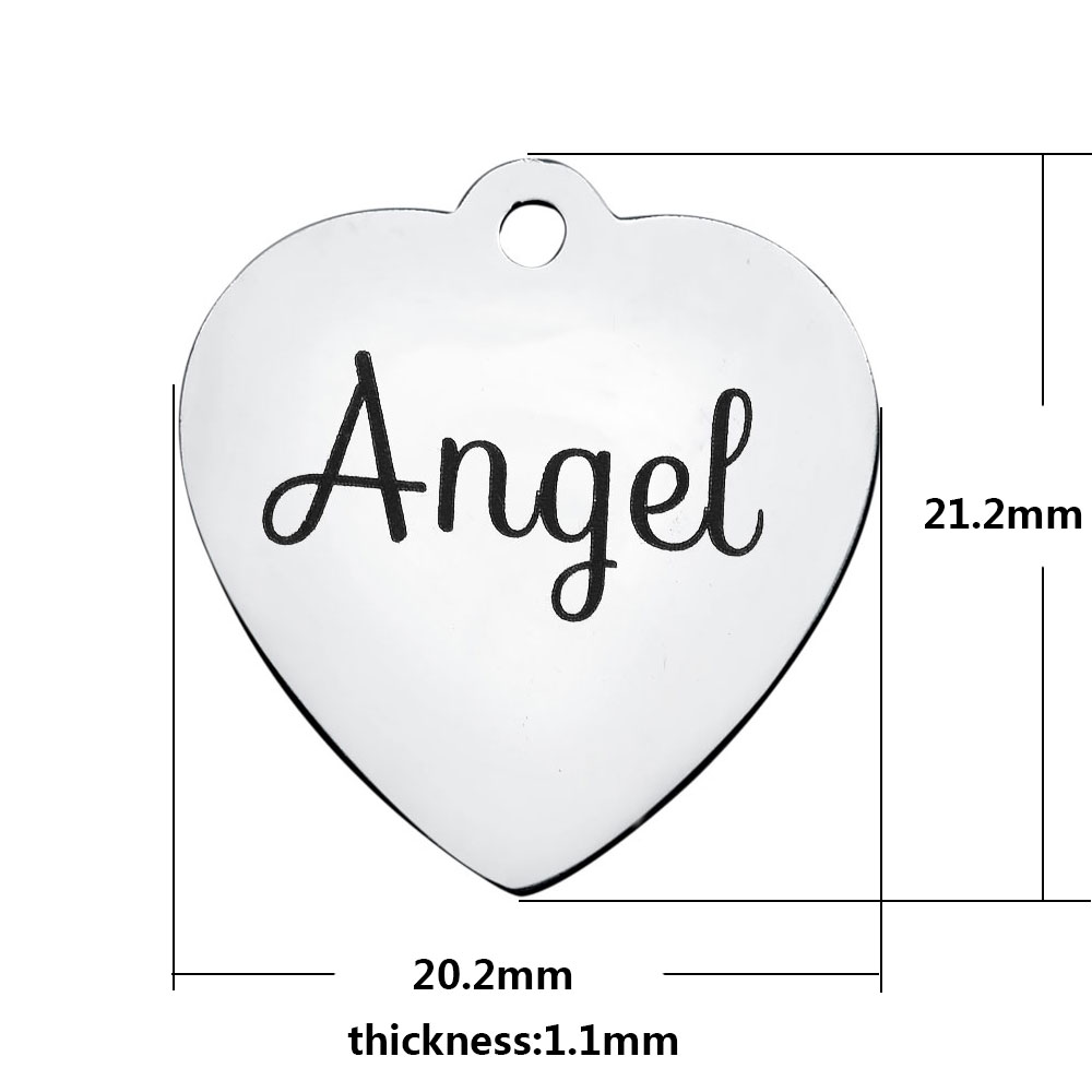 20.2*21.2mm Medium Stainless Steel Charm - Angel