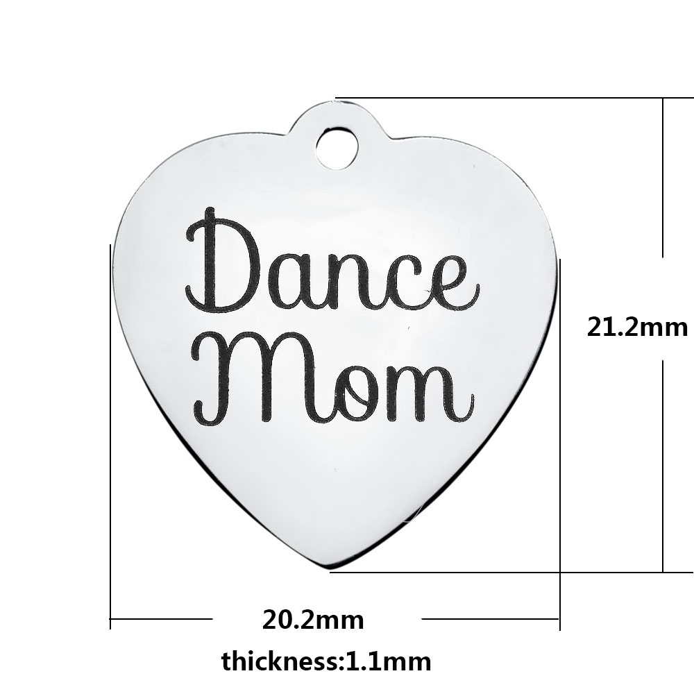 20.2*21.2mm Medium Stainless Steel Charm - Dance Mom