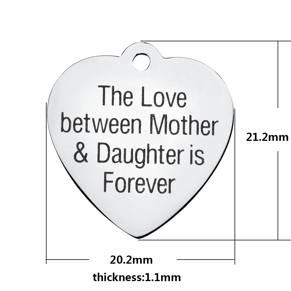20.2*21.2mm Medium Stainless Steel Charm - Love Between Mother..