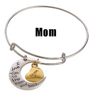 A&A Bracelet - I Love You To the Moon and Back - Mom