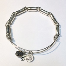 A&A Inspired Beaded Bracelet - Silver Tube & Ball