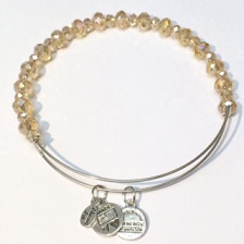 A&A Inspired Beaded Crystal Bracelet - Beige AB