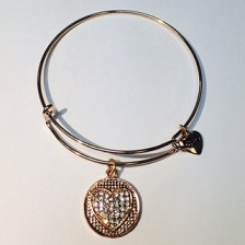 A&A Inspired Rhinestone - Heart Coin Rose Gold