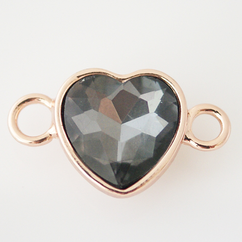 Versatile Charm - Smoky Heart Rose Gold