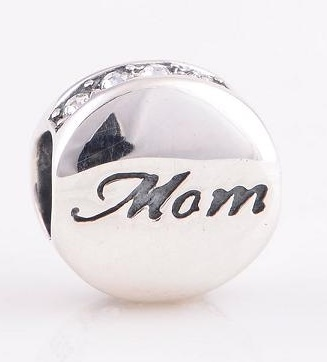 Charm 925 - Silver Mom Love Clear