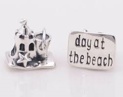 "Charm 925 - Silver Sand Castle & Pail ""day at the beach"""
