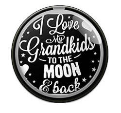 Snap Glass Jewelry - I Love my Grandkids to the Moon & Back