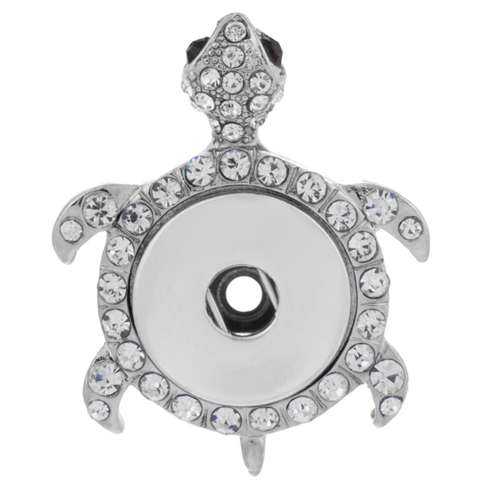 Snap Jewelry Pendant - Turtle Black Eyes