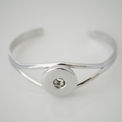 Snap Jewelry Bangle Curved Plain