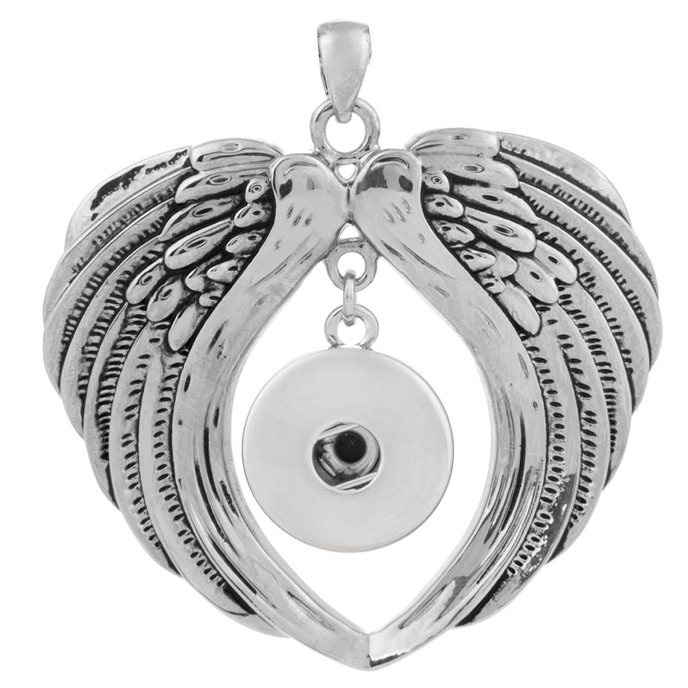 Snap Jewelry Angel Wings Pendant Drop