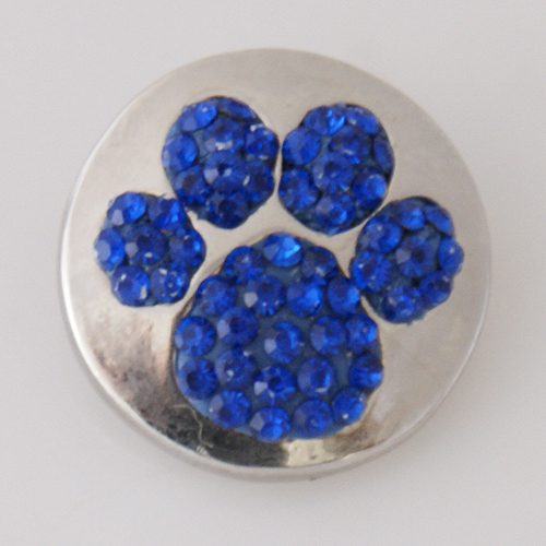 Snap Jewelry Rhinestone - Paw Prints - Blue