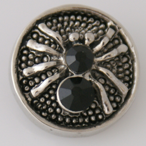 Snap Jewelry Rhinestone - Holiday Animal Spider Black
